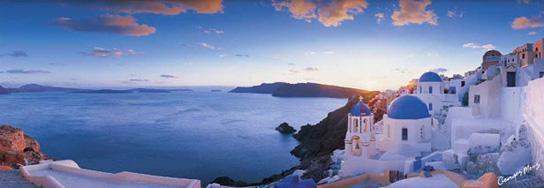 Poster para pared - Santorini panorama Enmarcado de cuadros