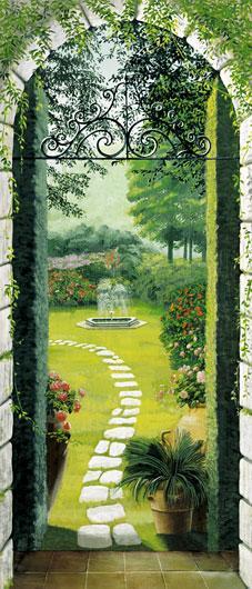 Poster para pared - Vista dal porticao Enmarcado de cuadros