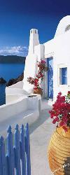 Poster para pared -Santorini terrace Marcos y Cuadros