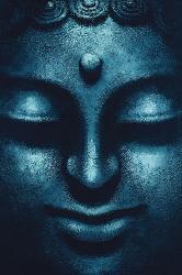 Poster - Blue Buddha Enmarcado de cuadros