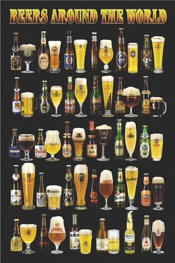 Poster - Beers around the world