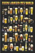 Poster - Beers around the world Enmarcado de laminas