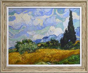 Cuadro Campo de trigo con cipreces Van Gogh Enmarcado de laminas
