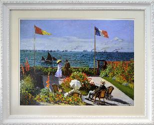 Cuadro Jardin en Sainte Adresse Monet Enmarcado de laminas