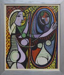 Cuadro Mujer frente al espejo  Enmarcado de laminas