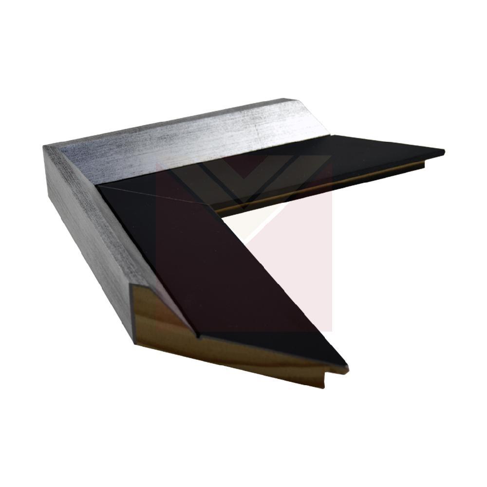 chata 5 cm negro mate con alfil plata 25 mm