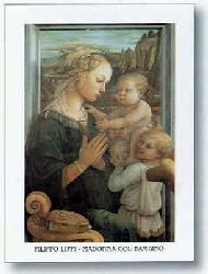 Lamina - Madonna col bambino e due angeli Enmarcado de laminas