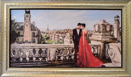CUADRO ROMANCE EN PARIS PIERRE BENSON SAW Enmarcado de cuadros