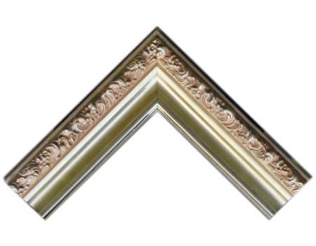 Batea frizada 90 * 50 mm plata