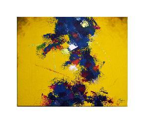 Abstracto Amarillo Marcos y Cuadros