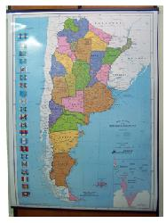 Mapa - Argentina Politico Enmarcado de cuadros