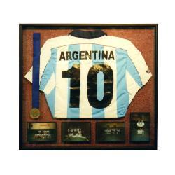 Enmarcado camiseta voley, medalla y fotos Enmarcado de laminas