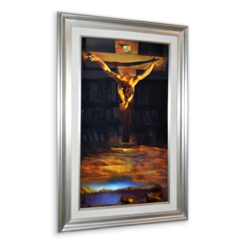 Enmarcado de escultura de Cristo
