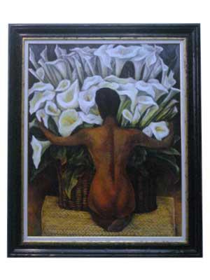 Cuadro - Desnudo con calas