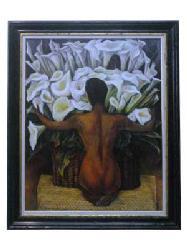 Cuadro - Desnudo con calas Enmarcado de cuadros