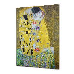 Cuadro Canvas Bastidor  El Beso Klimt Enmarcado de laminas