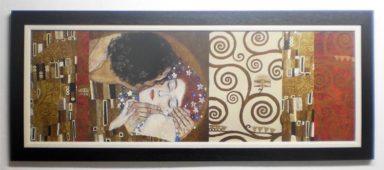 Enmarcado de cuadros cuadros cuadro con lamina de klimt - Enmarcado de cuadros ...