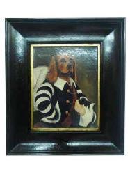 Enmarcado de oleo Perro Enmarcado de laminas