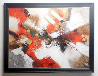cuadro abstracto Jadis Enmarcado de cuadros