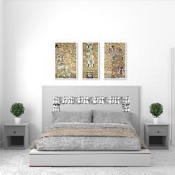 set 3 cuadros canvas con marco Klimt Enmarcado de laminas