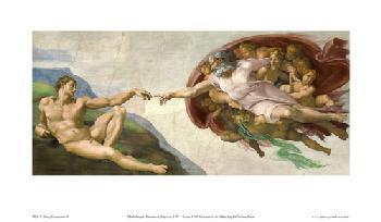 La creacion del hombre Enmarcado de laminas