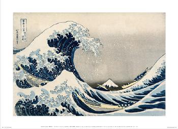 Katsushika Hokusai  La gran ola de Kanagawa Enmarcado de laminas