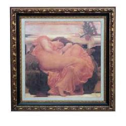Enmarcado de laminas cuadros cuadro flaming june - Enmarcado de cuadros ...