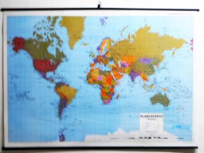 Mapa - Planisferio Fisico Politico