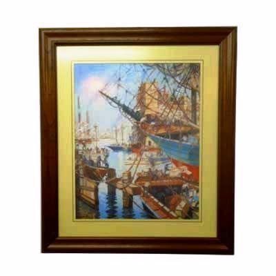 Enmarcado de laminas cuadros cuadro a pleno sol 1940 for Enmarcado de cuadros precios