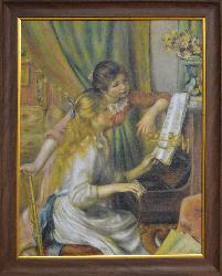 CUADRO MUCHACHAS AL PIANO RENOIR Enmarcado de laminas