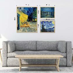 set 3 cuadros VAN GOGH Enmarcado de laminas