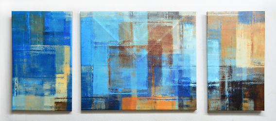 Cuadro Triptico Abstracto Canvas bastidor Enmarcado de laminas
