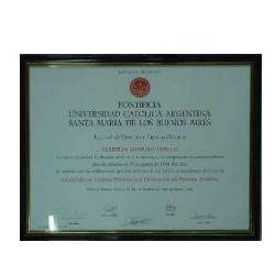 Enmarcado de certificado UCA Marcos y Cuadros