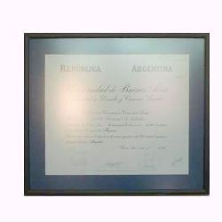 Enmarcado de diploma UBA Marcos y Cuadros