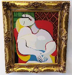 CUADRO EL SUEÑO Picasso Enmarcado de laminas