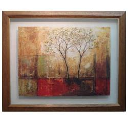 Enmarcado de lámina arbol abstracto Enmarcado de laminas