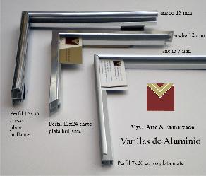Molduras Aluminio Plateado Marcos y Cuadros