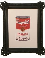 Cuadro Colored Campbells Soup Warhol Enmarcado de laminas