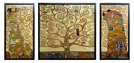 Cuadro El Arbol de la Vida Klimt Triptico Enmarcado de laminas
