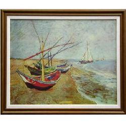 Cuadro - Barcas en la playa Enmarcado de laminas