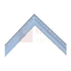 batea labrada 2,5 cm blanca con plata Marcos y Cuadros