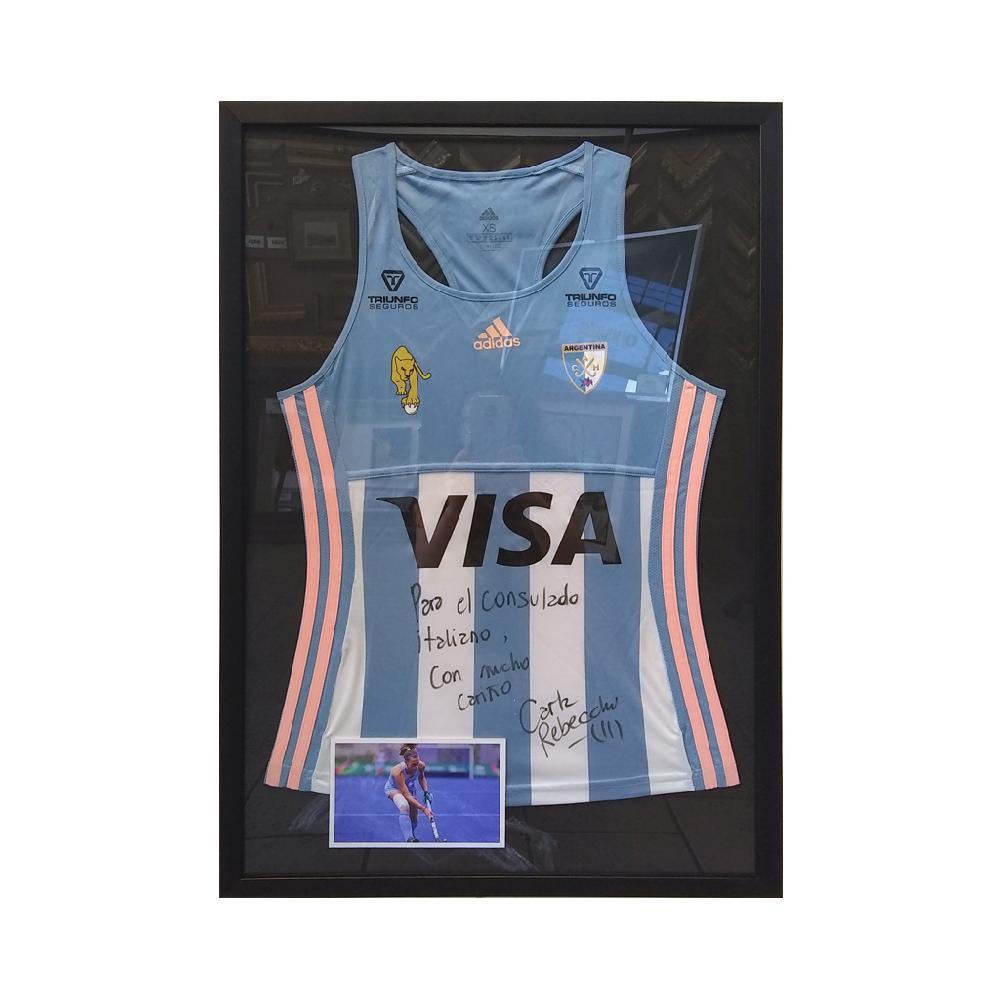 Enmarcado camiseta manga larga de Argentina