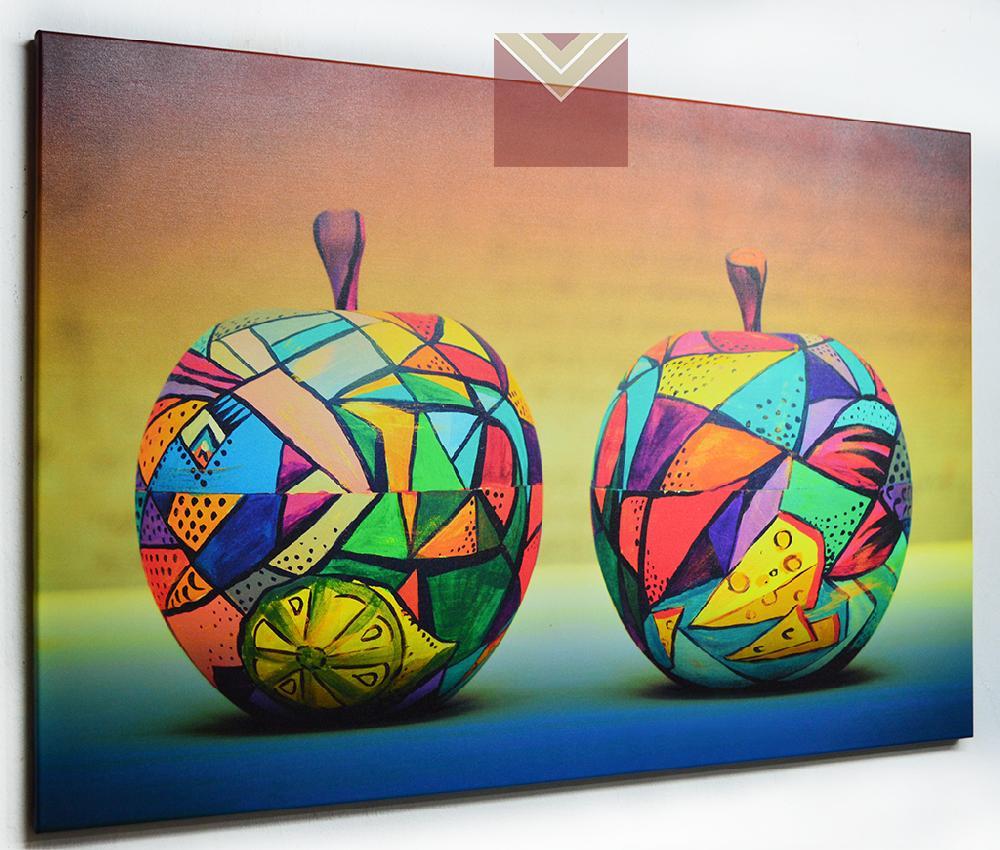 Cuadro Canvas Bastidor Manzanas decorativas