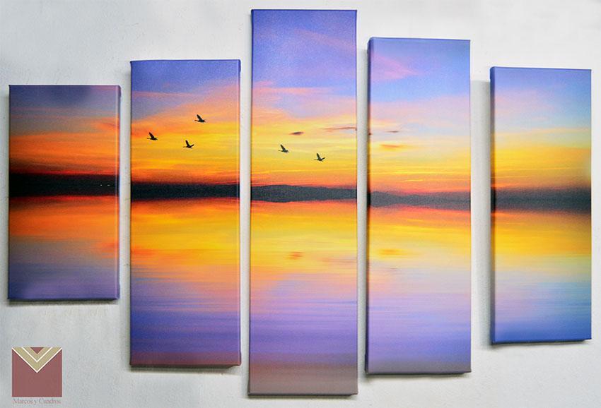 Enmarcado de cuadros cuadros canvas en bastidor 5 piezas - Enmarcado de cuadros ...