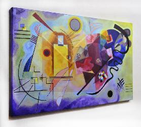 Cuadro Kandinsky Amarillo, Rojo y Azul Enmarcado de cuadros