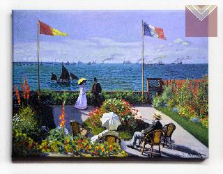 Cuadro Canvas Bastidor Jardin en Sainte Adresse Monet Marcos y Cuadros
