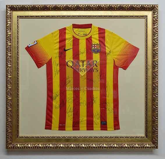 Enmarcado camiseta Barcelona