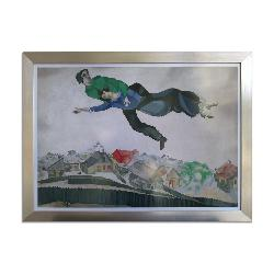 Cuadro Sobrevolando la ciudad, Marc Chagall Marcos y Cuadros