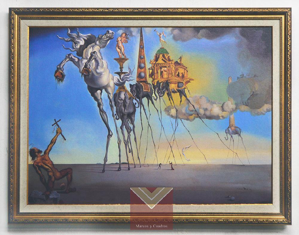 Enmarcado de cuadros Cuadros , Cuadro La tentacion de San Antonio, Dali