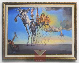 Cuadro La tentacion de San Antonio, Dali Enmarcado de laminas
